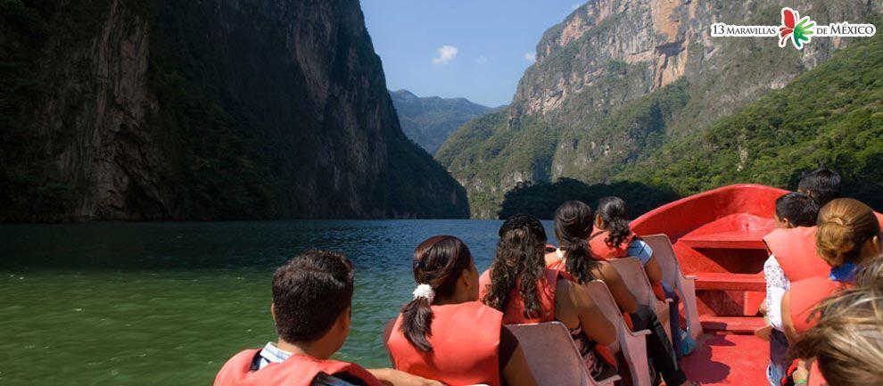 Lugares turísticos de Chiapas - Cañón del Sumidero