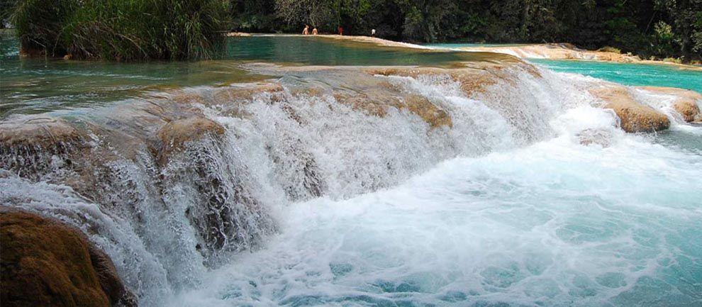 Lugares turísticos de Chiapas - Cascadas de Agua Azul
