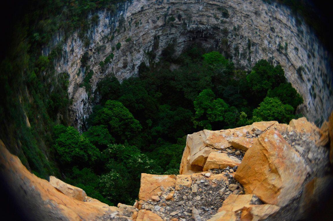 Lugares turísticos de Chiapas - Sima de Las Cotorras
